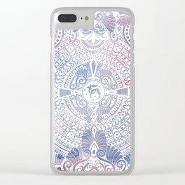 deer mandala (white) Clear iPhone Case