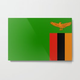Flag of Zambia Metal Print
