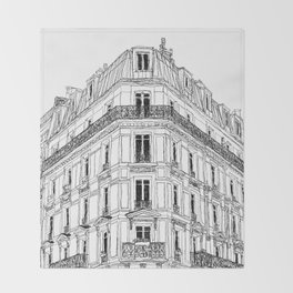 Parisian Facade Throw Blanket