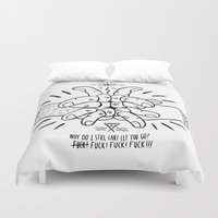 let it go Duvet Covers featuring Let go... by Diogo Rebelo
