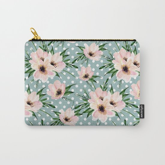 Vintage pattern. Watercolor flowers Carry-All Pouch