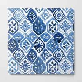 Arabesque tile art Metal Print