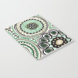 Green and Gold Rings Notebook