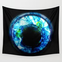 abyss Wall Tapestries featuring Electric Abyss  by Tiffany Anne