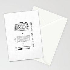 Triple Threat Designer Stationery Cards