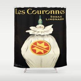 Vintage poster - Les Couronnes Shower Curtain