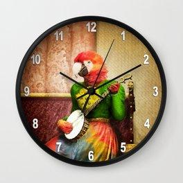 Banjo Birdy Plucks a Pretty Tune! Wall Clock