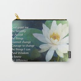 Serenity Prayer Lotus One Carry-All Pouch