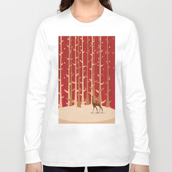 Christmas Reindeer. 1 Long Sleeve T-shirt