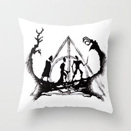 The Three Brothers Inktober Drawing Throw Pillow