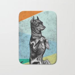 Sitting dog Bath Mat