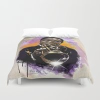 louis armstrong Duvet Covers featuring Louis Armstrong by Philipe Kling