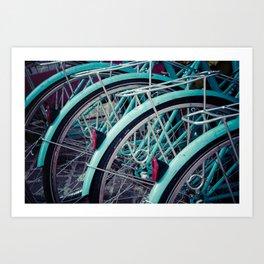 Blue Bikes Art Print