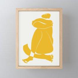 Giant yellow nude Framed Mini Art Print