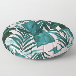 Tropical Jungle Leaves Pattern #3 #tropical #decor #art #society6 Floor Pillow