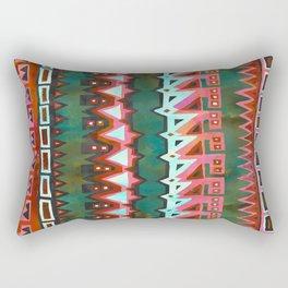 AZTEC STRIPE - Green Rectangular Pillow