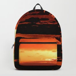 Sunset behind the Circle of Rocks Backpack