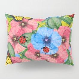 Floral scene Pillow Sham