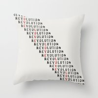 revolution Throw Pillows featuring Revolution by Skye Zambrana