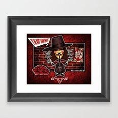 V for Vendetta Framed Art Print