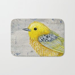 Yellow Warbler Tilly (Vintage Edition) Bath Mat