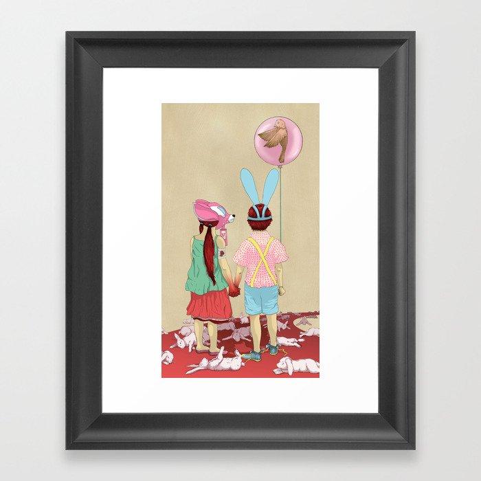 The Terrible Children Framed Art Print