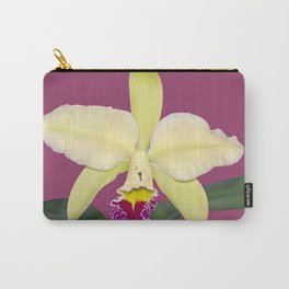 Stunning cream and magenta orchid flower Carry-All Pouch
