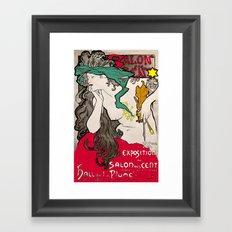 Vintage Alphonse Mucha Poster Girl Framed Art Print
