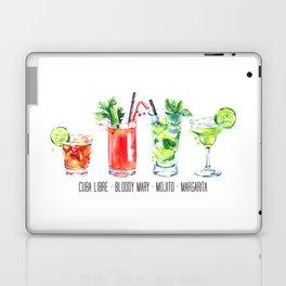 Cuba Libra - Bloody Mary - Mojito - Margarita - Four Cocktails - Watercolour Art - Colourful Print Laptop & iPad Skin