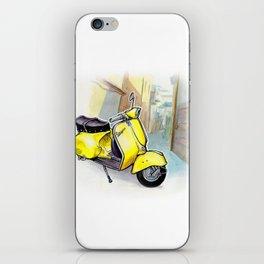 Giallo Vespa (Motocicletalia) iPhone Skin