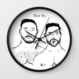 Beard Boys 2 Wall Clock