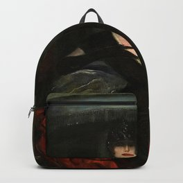 The Masquerade, Carnival, Venice, Italy portrait by Federico Beltran Masses Backpack