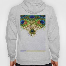 GORGEOUS BLUE-GREEN PEACOCK FEATHERS ART Hoody