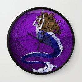 Primeval Mermaid (purple) Wall Clock