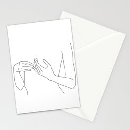 Line Hands 2 Stationery Cards