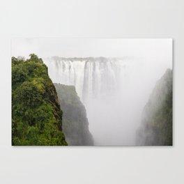 Misty Falls Canvas Print