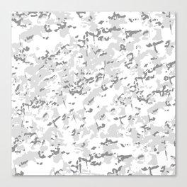 White Popular Multi Camo Pattern Canvas Print