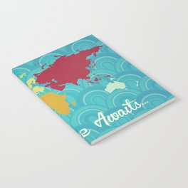 Adventure Awaits World Map Notebook