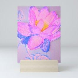 Vivid lotus Mini Art Print