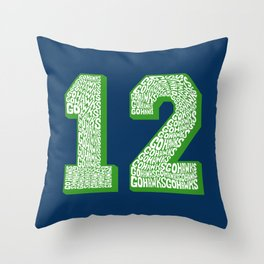Go Hawks 12_1 Throw Pillow