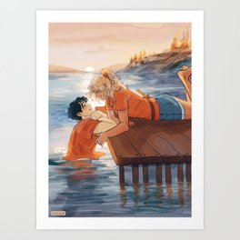 at the shore Art Print