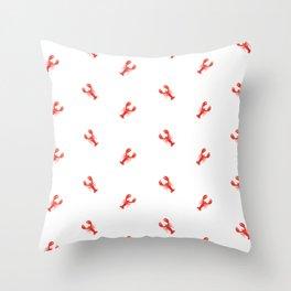 Lobster Pattern #home #decor #summer #orange #animals #sea #beach #pattern Throw Pillow