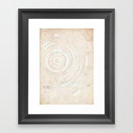 Greek Myth Family Spiral (INFOGRAPHIC) Framed Art Print