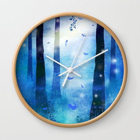 Sunrise in Winter Wall Clock