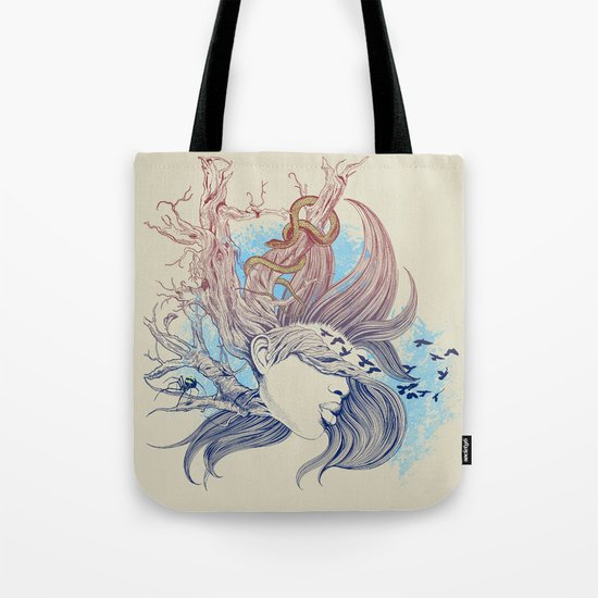 Tree Girl Tote Bag