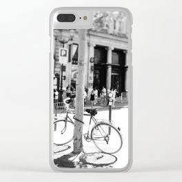 Paris Bicycle Clear iPhone Case