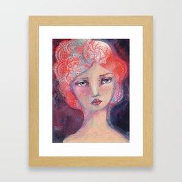 Folie by Jane Davenport ( with logo) Framed Art Print