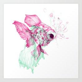 Pisces Baby Art Print