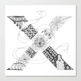 """Zenletter """"X"""" Canvas Print"""