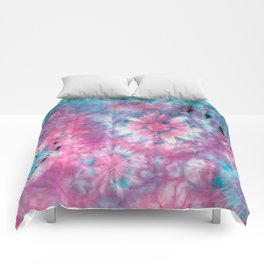 happy hippie Comforters